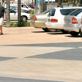New low VOC sealer to protect urban landscape areas from staining