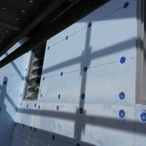 Polystyrene cladding panels for high quality, strength and install speed