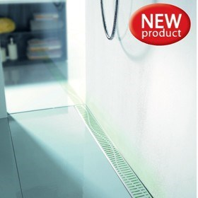 ShowerDrain Lightline – water activated illumination