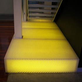 Anti-slip, lightweight panels, translucent and scratch resistant panels