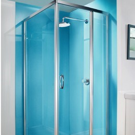 The ultimate in high gloss shower walls