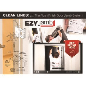 EZYJAMB Flush Finish Door Jamb - Even Easier to Install