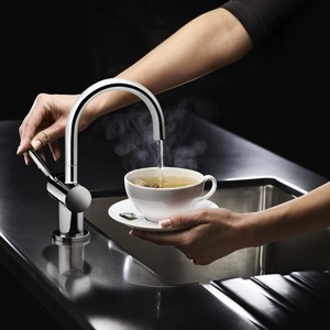 Steaming Hot Water Taps
