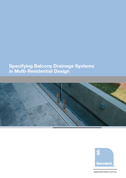 Specifying balcony drainage systems in multi-residential design