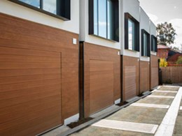 Bespoke garage doors enable seamless facade at Pascoe Vale townhouse project