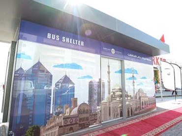 Official opening of the first 28 bus shelters in Sharjah