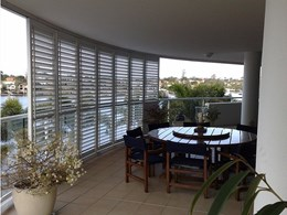 Shutterflex screening for patios, gazebos, pergolas and entertaining areas