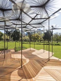Award-winning architect Amanda Levete chooses Auswest Timbers decking for MPavilion 2015