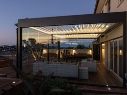 Maximising that indoor-outdoor vibe with sliding glass doors