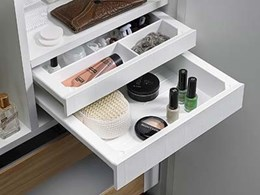Intelligent SmarTray organiser from Hettich for cabinets and desks