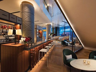Sofitel Sydney's new Esprit Noir Lobby bar featuring Euro Oak Milano Collection