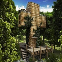 Cross-shaped micro house offers off-grid hideaway