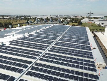 A 750kW solar system meets most of the facility's daytime energy needs