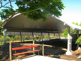 Spantech constructs multipurpose shade structure at St Pius X School, Qld