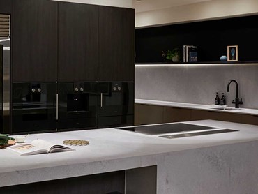 The kitchen featuring Zip HydroTap Matte Black Celsius All-In-One Arc