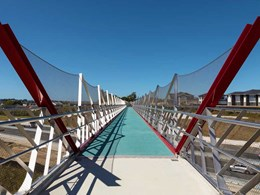 Carl Stahl X-Tend mesh ensures fall protection on new Auckland footbridge
