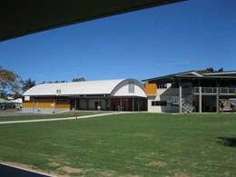 Spantech constructs indoor courts and shade structure for 4 Mackay Catholic Primary Schools