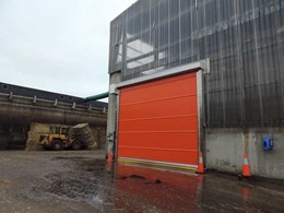 DMF's corrosion resistant high speed doors installed at compost waste site