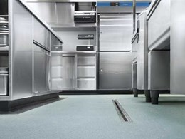 Altro Stronghold 30 safety flooring provides sustained lifetime slip resistance for commercial kitchens