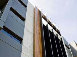 Dual-powder aluminium woodgrain finish retaining colour in harsh conditions