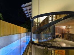 Multiple design goals met in oversized curved glass application at Waverley Residence