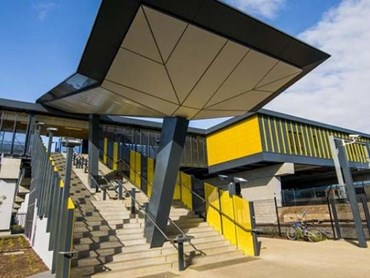 Sunshine Railway Station featuring Symonite HD panels in Tropical Yellow