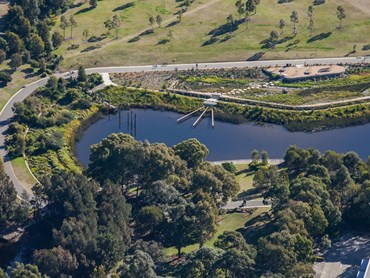 The Sydney Park Water Re-Use Project has received two additional honours: the Good Design Award Best in Class in the Architectural Design and Urban Design category and the 202020 Vision Green Design Award. Image: Supplied