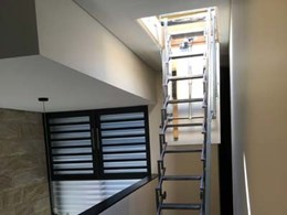 Electric scissor stair helps Sydney homeowner gain access to roof terrace