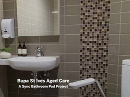 98 Sync bathroom pods installed at Bupa St Ives aged care project