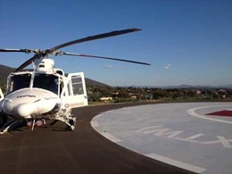 Rotech boom gates ensure safe landings at Tamworth hospital helipad