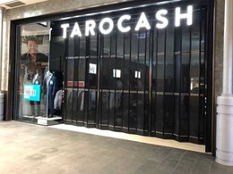 Foldaway door closures secure Tarocash store at Westfield Miranda