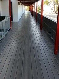 DuraGrip PU anti-slip sealer makes Modwood deck safer in Taroona school