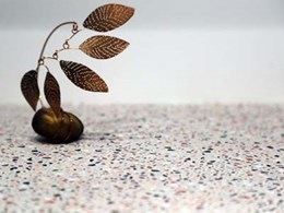 New Axolotl Terrazzo surface in concrete colours