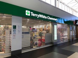 New Terry White pharmacy in Cleveland QLD secured with transparent roller shutters