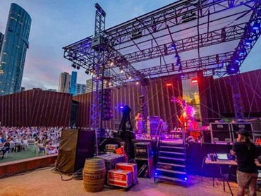 The Malthouse Theatre Outdoor Stage featuring a TITAN heavy duty portable stage