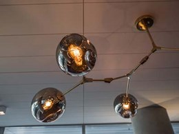 Aglo designs pendants for feature lighting at South Yarra luxury apartments