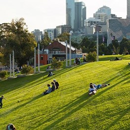 Birrarung Marr Stormwater Harvesting and Landscape Integration Project by Cardno, Urban Initiatives and Jones & Whitehead