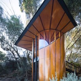 Circular Tree Top Studio designed and built by Max Pritchard