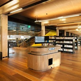Australia's first cross laminated timber (CLT) public building opens: Library at The Dock