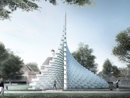 BIG unveils 'unzipped' wall for 2016 Serpentine Gallery Pavilion