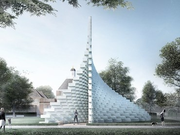 2016 Serpentine Gallery Pavilion design by BIG. Image:  BIG