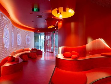 Griffith University Red Zone, Gold Coast Campus, Southport by Cox Rayner. Photography by Christopher Frederick-Jones