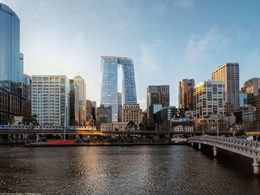 Melbourne's 'pantscraper' truncated by planning to reduce overshadowing on Yarra