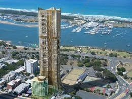 Golden Gold Coast tower to shimmer and change with light and perspective