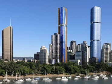 Cox Architecture's 30 Albert is one of a host of new residential skyscrapers planned for Brisbane