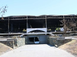 Paganin House by Iwan Iwanoff destroyed by fire