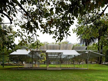 Mpavilion 2014, Melbourne by Sean Godsell Architects. Photography by Earl Carter