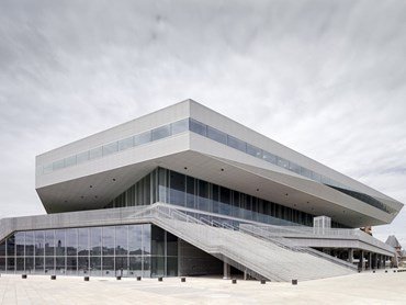 Completed in June 2015, Dokk1 is Scandinavia's largest public library. Photography by Adam Mørk
