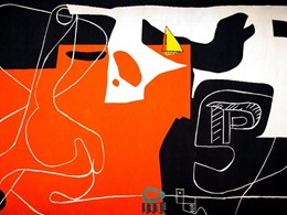 Utzon-Le Corbusier tapestry unveiled at Sydney Opera House for the first time