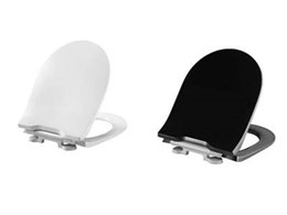Pressalit's toilet seat with institutional hinge and integrated soft close